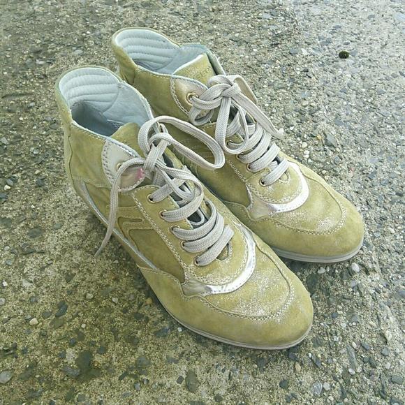 los angeles 20de2 652a4 GEOX RESPIRA Womens High Wedge SNEAKER Shoes 36